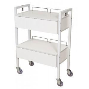 Beauty - 2 Drawer Beauty Trolley with Stylist Wheels