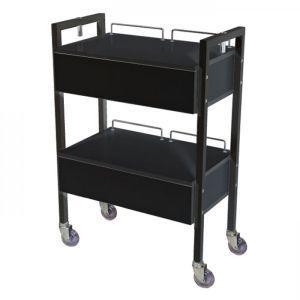 Black 2 Drawer Beauty Trolley